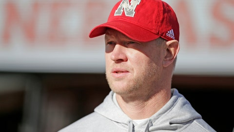 <p>               Nebraska head coach Scott Frost watches warmups before an NCAA college football game against Wisconsin in Lincoln, Neb., Saturday, Nov. 16, 2019. (AP Photo/Nati Harnik)             </p>