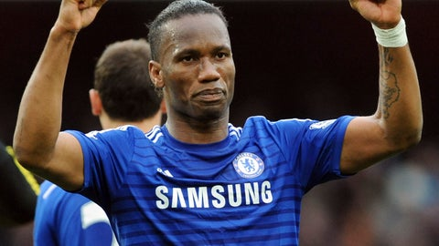 <p>               FILE - In this Sunday, April 26, 2015 file photo, Chelsea's Didier Drogba during the English Premier League soccer match between Arsenal and Chelsea at the Emirates Stadium, London, England. The international soccer players now studying on an executive masters course could field one of the best school teams ever seen. After classes this week, Ballon d'Or winner Kaka was joined on the field by Champions League winners Florent Malouda and Julio Cesar and an array of one-time national team stars. Didier Drogba, though not playing, and Andriy Arshavin are also classmates for an 18-month education now in its third edition. (AP Photo/Rui Vieira, file)             </p>
