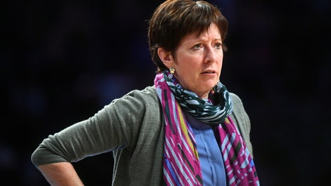 <p>               FILE - In this Jan. 6, 2019 file photo, Notre Dame head coach Muffet McGraw watches from the sideline during an NCAA college basketball game against Georgia Tech, in Atlanta. Notre Dame's 12-year run in The Associated Press women's basketball poll is over. The Irish fell out of the Top 25 on Monday, Nov. 19, 2019, for the first time since the end of the 2006-07 season, ending a streak of 234 consecutive weeks being ranked. It was the third longest active streak behind UConn (492) and Baylor (302). (AP Photo/John Amis, File)             </p>