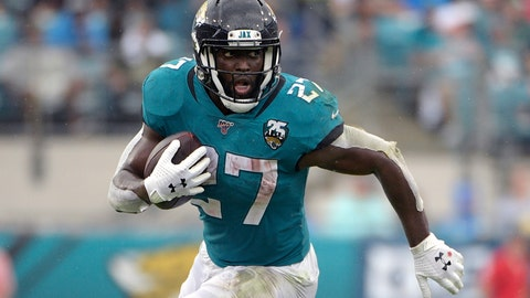 "<p>               FILE - In this Oct. 27, 2019, file photo, Jacksonville Jaguars running back Leonard Fournette (27) rushes for yardage against the New York Jets during the first half of an NFL football game, in Jacksonville, Fla. Fournette had a series of meetings and calls this week after carrying the ball a season-low eight times in a 20-point loss to Indianapolis. The most notable of them was chatting with 1981 Heisman Trophy winner and retired Oakland Raiders star Marcus Allen, who told the third-year pro about his experience having to play fullback and share a backfield with fellow Heisman winner Bo Jackson more than 30 years ago. ""His situation was harder than mine,"" said Fournette, who first met Allen during a recruiting visit to USC while he was in high school.(AP Photo/Phelan M. Ebenhack, File)             </p>"