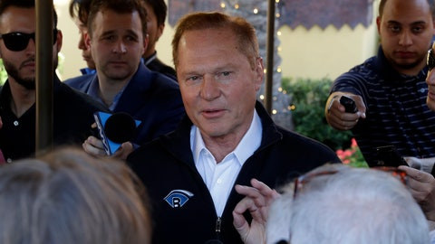 <p>               Sports agent Scott Boras speaks to the media after a session of the Major League Baseball general managers annual meetings, Wednesday, Nov. 13, 2019, in Scottsdale, Ariz. (AP Photo/Matt York)             </p>