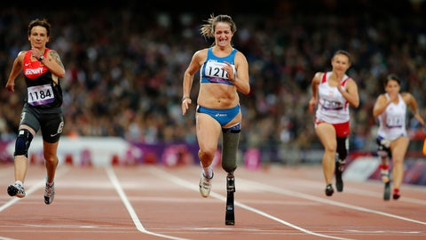 <p>               FILE -- In this file photo taken on Sept. 5, 2012, Italy's Martina Caironi wins at Women's 100m T42 Final at the 2012 Paralympics in London. Two-time Paralympic gold medallist Martina Caironi has been provisionally suspended after testing positive for a steroid. (AP Photo/Emilio Morenatti)             </p>