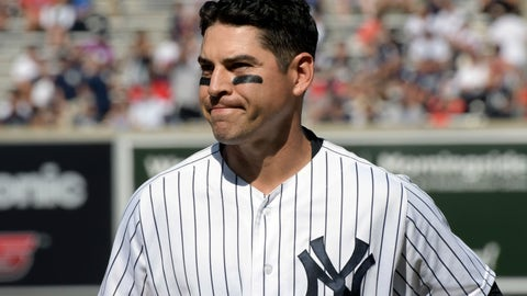<p>               CORRECTS TO ONE GUARANTEED SEASON, INSTEAD OF TWO - FILE - In this Aug. 30, 2017, file photo, New York Yankees' Jacoby Ellsbury reacts after grounding out to end the sixth inning in the first game of the baseball team's doubleheader against the Cleveland Indians at Yankee Stadium in New York. The Yankees have given up on Ellsbury, cutting the oft-injured outfielder with one guaranteed season and more than $26 million left in his $153 million, seven-year contract. (AP Photo/Bill Kostroun, File)             </p>
