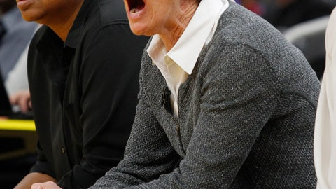 <p>               Stanford head coach Tara Vanderveer reacts during the first half of an NCAA college basketball game against San Francisco, Saturday, Nov. 9, 2019, in San Francisco. (AP Photo/George Nikitin)             </p>