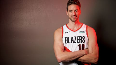 <p>               FILE - In this Sept. 30, 2019, file photo, Portland Trail Blazers' Pau Gasol poses during the NBA basketball team's media day in Portland, Ore. The Blazers have waived  Gasol, but his career with the team may not be over. Gasol, who never played in a game with the Blazers, announced on social media Tuesday, Nov. 20, that the team had released him. Gasol said he plans to remain in Portland to continue his rehabilitation after surgery for a stress fracture, and he is discussing a new role with the Trail Blazers. (AP Photo/Sam Ortega, File)             </p>