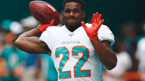 <p>               FILE - In this Sept. 8, 2019, file photo, Miami Dolphins running back Mark Walton (22) warms up before an NFL football game against the Baltimore Ravens, in Miami Gardens, Fla. The Dolphins have released troubled running back Mark Walton, saying he had been involved in an unspecified police matter. Tuesday's, Nov. 19, 2019,  announcement came as the second-year player served a four-game suspension for violating NFL conduct and substance abuse policies. (AP Photo/Brynn Anderson, File)             </p>