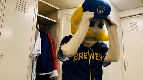 Bernie Brewer, Brewers mascot