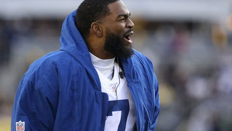 Nov 3, 2019; Pittsburgh, PA, USA;  Indianapolis Colts quarterback Jacoby Brissett (7) reacts on the sidelines against the Pittsburgh Steelers during the fourth quarter at Heinz Field. Pittsburgh won 26-24. Mandatory Credit: Charles LeClaire-USA TODAY Sports