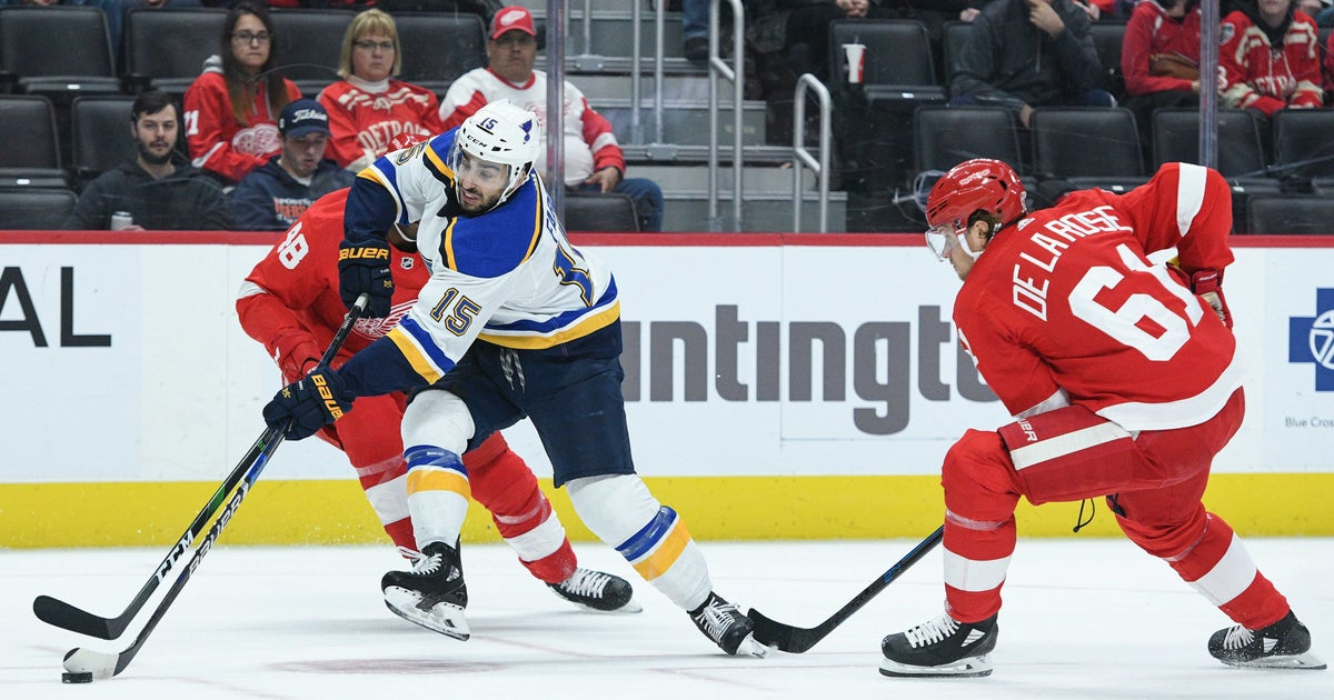 Blues deal Robby Fabbri to Red Wings for forward Jacob de la Rose thumbnail