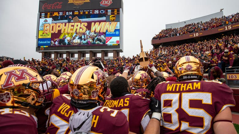 Gophers jump 9 spots to No. 8 in College Football Playoff rankings