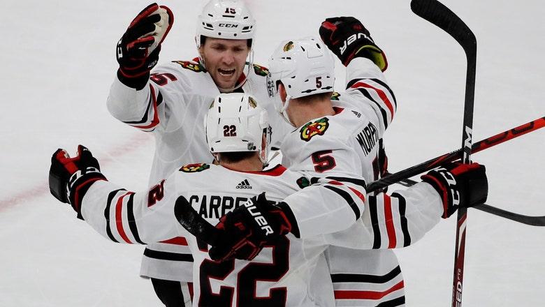 Blackhawks recover, beat Bruins 4-3 in OT