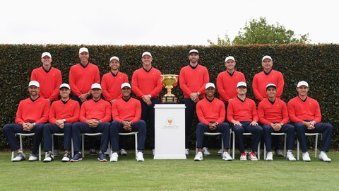 <p>               The USA team poses for a photo ahead of the President's Cup Golf tournament in Melbourne, Wednesday, Dec. 11, 2019. (AP Photo Andy Brownbill)             </p>