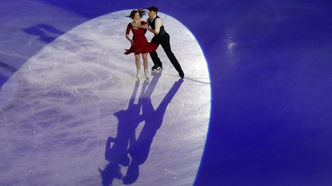 <p>               Skaters perform during the opening ceremony of the figure skating Grand Prix finals at the Palavela ice arena, in Turin, Italy, Thursday, Dec. 5, 2019. (AP Photo/Antonio Calanni)             </p>