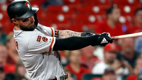 <p>               FILE - In this Sept. 4, 2019, file photo, San Francisco Giants' Kevin Pillar follows through on a two-run home run during the eighth inning of the team's baseball game against the St. Louis Cardinals in St. Louis. The Giants allowed Pillar to become a free agent by failing to offer the outfielder a 2020 contract. Acquired from Toronto on April 2, Pillar hit .264 for San Francisco with 21 home runs and 87 RBIs. (AP Photo/Jeff Roberson, File)             </p>