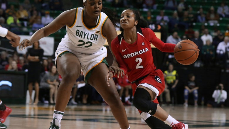 No. 7 Baylor women rebound from 1st loss 72-38 over Georgia