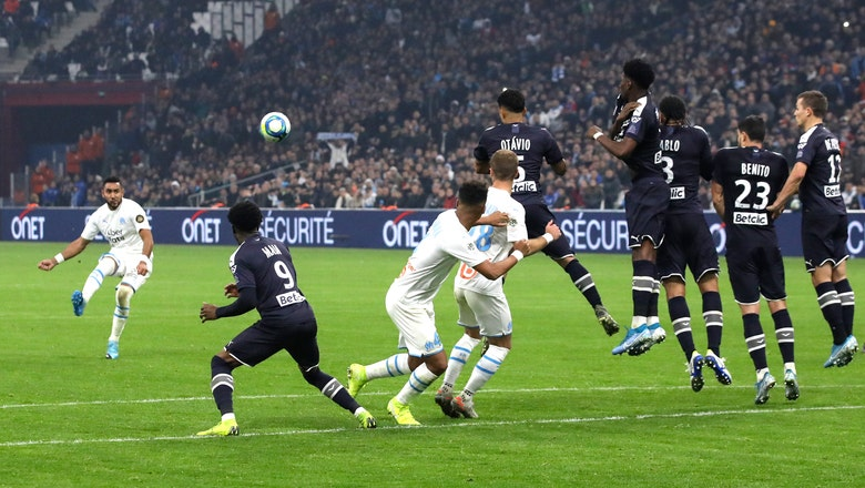Marseille wins 6th straight league game, keeps pace with PSG