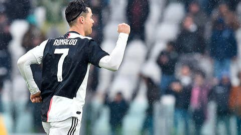 <p>               Juventus' Cristiano Ronaldo reacts after scoring the final equalizer during the Italian Serie A soccer match between Juventus and Sassuolo at the Allianz Stadium in Turin, Italy, Sunday, Dec. 1, 2019. (Alessandro Di Marco/ANSA via AP)             </p>