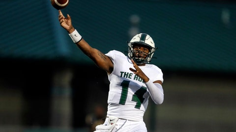 <p>               In this Sept. 21, 2019 photo provided by Slippery Rock University Athletics, Slippery Rock quarterback Roland Rivers III throws a pass during an during an NCAA college football game against Millersville in Slippery Rock, Pa. Rivers was selected to the first team of the Associated Press  Division II All-America football team, Wednesday, Dec. 18, 2019. (Slippery Rock University Athletics via AP)             </p>