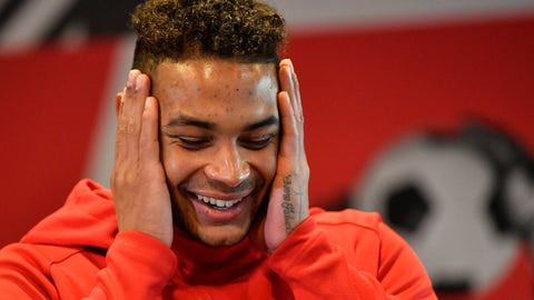 <p>               In this Wednesday, Dec. 4, 2019 photo US national goal keeper Zack Steffen, playing for the German Bundesliga soccer club Fortuna Duesseldorf, gestures during an interview with the Associated Press at the Stadium in Duesseldorf, Germany. (AP Photo/Martin Meissner)             </p>