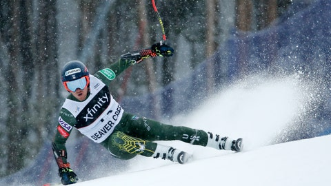 <p>               CORRECTS FROM TOMMY FORD TO TED LIGETY-  United States' Ted Ligety skis during a men's World Cup giant slalom skiing race Sunday, Dec. 8, 2019, in Beaver Creek, Colo. (AP Photo/John Locher)             </p>