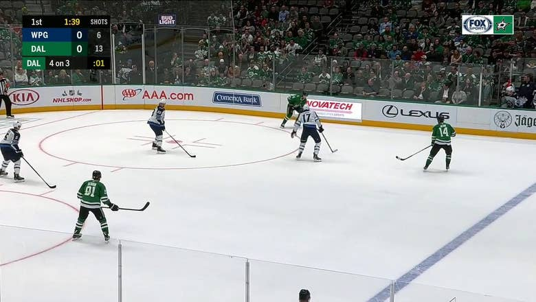 HIGHLIGHTS: Stars open scoring with Jamie Benn power-play goal