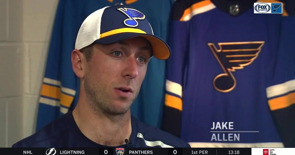 Jake Allen on accepting backup role: 'I told myself to embrace it'