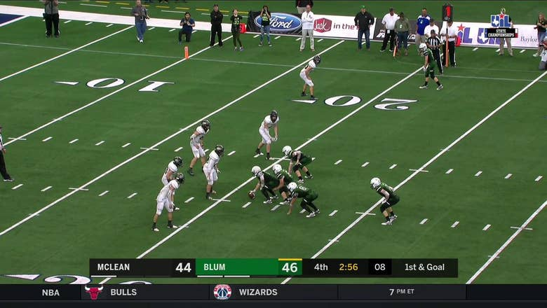 HIGHLIGHTS: Colton Gonzalez with 4th TD for Blum, Bobcats lead 52-44 | UIL State Championships