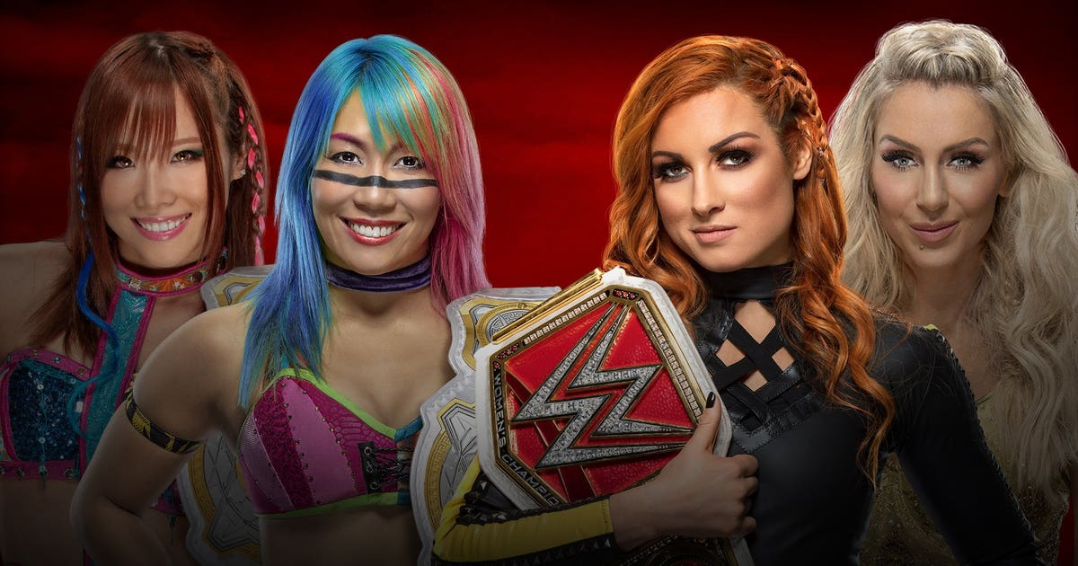 WWE Women's Tag Team Champions the Kabuki warrior with the original women's Championship Becky Lynch&Charlotte Flair(Tables, Ladders and Chairs match)