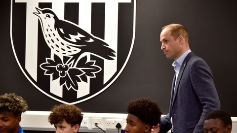 <p>               Britain's Prince William meets young players from West Brom's Academy as part of the Heads Up campaign during a visit to West Bromwich Albion Training Ground in Walsall, England, Thursday, Nov. 28, 2019. (AP Photo/Rui Vieira, Pool)             </p>