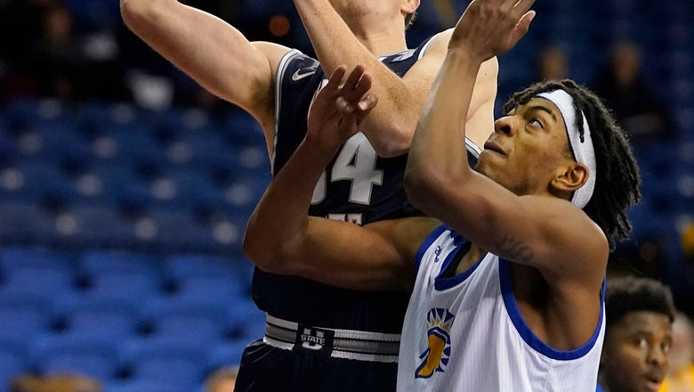 No. 25 Utah St tops San Jose St 71-59 in conference opener
