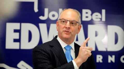 <p>               FILE - In this Thursday, Nov. 14, 2019 file photo, Louisiana Gov. John Bel Edwards talks to media at his campaign office in Shreveport, La. Gov. John Bel Edwards told the board overseeing Louisiana's largest university system Thursday, Dec. 5, 2019 that he will propose to again raise spending on public college campuses next year, trying to reverse nearly a decade of cuts. (AP Photo/Gerald Herbert, File)             </p>
