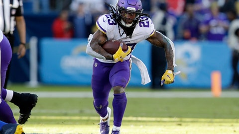 <p>               Minnesota Vikings running back Mike Boone runs with the ball during the second half of an NFL football game against the Los Angeles Chargers, Sunday, Dec. 15, 2019, in Carson, Calif. (AP Photo/Marcio Jose Sanchez)             </p>