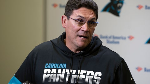 <p>               Carolina Panthers head coach Ron Rivera speaks to the media following an NFL football game against the Washington Redskins in Charlotte, N.C., Sunday, Dec. 1, 2019. (AP Photo/Mike McCarn)             </p>