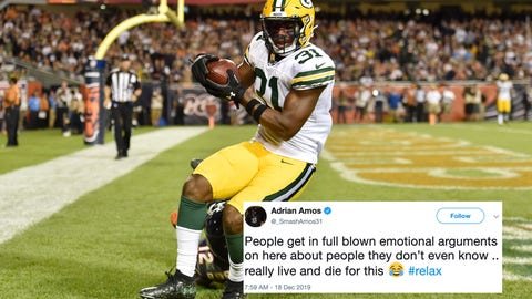 Adrian Amos, Packer safety
