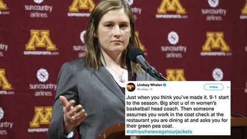 Lindsay Whalen, Gophers women's basketball coach