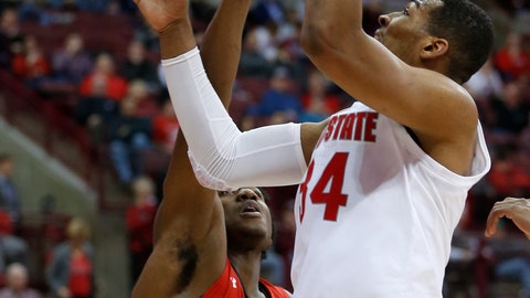 <p>               Ohio State's Kaleb Wesson, right, shoots over Southeast Missouri State's Darrious Agnew during the second half of an NCAA college basketball game Tuesday, Dec. 17, 2019, in Columbus, Ohio. Ohio State defeated Southeast Missouri State 80-48. (AP Photo/Jay LaPrete)             </p>