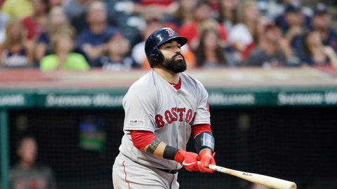 <p>               In this Aug. 13, 2019 photo Boston Red Sox's Sandy Leon watches his ball after hitting against the Cleveland Indians in the fourth inning of a baseball game in Cleveland. The Indians have acquired Leon in a trade from the Red Sox. Cleveland sent minor league right-hander Adenys Bautista to Boston on Monday, Dec. 2, 2019 for the 30-year-old Leon, who has split his eight-year major league career between Boston and Washington. (AP Photo/Tony Dejak)             </p>