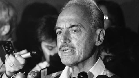 <p>               FILE - This July 16, 1981 file photo shows baseball union leader Marvin Miller speaking to reporters after rejecting a proposal to end a baseball strike, in New York. Miller, the union leader who revolutionized baseball by empowering players to negotiate multimillion-dollar contracts and to play for teams of their own choosing, was elected to baseball's Hall of Fame on Sunday, Dec. 8, 2019. (AP Photo/Howard, File)             </p>