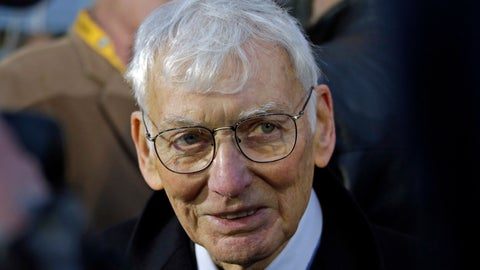 """<p>               File-This Dec. 22, 2012, file photo shows Pittsburgh Steelers chairman emeritus Dan Rooney attending the unveiling of a marker commemorating the 40th anniversary of the """"Immaculate Reception"""" at the sight of the catch on the Northside of Pittsburgh. In 2003, the NFL had three minority head coaches: future Pro Football Hall of Famer Tony Dungy, Herman Edwards and Marvin Lewis. In the 12 previous seasons, there had been six. Total. Considering that the majority of the players in the league 16 years ago were minorities, that imbalance was enormous. And disturbing. And, frankly, it was unfair. Paul Tagliabue, then the NFL commissioner, put together a committee that established the """"Rooney Rule,"""" which requires all teams with coaching and front office vacancies to interview minority candidates. The rule, long overdue, was named for Rooney, then president of the Pittsburgh Steelers and the overseer of that committee. (AP Photo/Gene J. Puskar, File)             </p>"""
