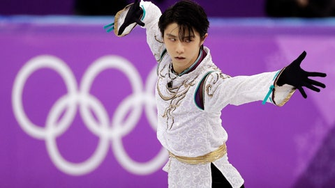 <p>               FILE - In this Feb. 17, 2018, file photo, Yuzuru Hanyu, of Japan, performs during the men's free figure skating final at the 2018 Winter Olympics in Gangneung, South Korea. Hanyu, the world's most popular figure skater, and American Nathan Chen, his biggest rival, face off at the Grand Prix Finals this week in Turin, Italy. (AP Photo/David J. Phillip, File)             </p>