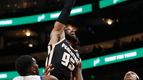 <p>               Atlanta Hawks guard DeAndre' Bembry (95) shoots as Golden State Warriors forward Kevon Looney (5) defends in the first half of an NBA basketball game Monday, Dec. 2, 2019, in Atlanta. (AP Photo/John Bazemore)             </p>
