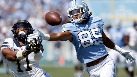<p>               FILE - In a Saturday, Sept. 22, 2018 file photo, Pittsburgh's Dane Jackson (11) and North Carolina's Roscoe Johnson (85) reach for a pass during the first half of an NCAA college football game in Chapel Hill, N.C. Pittsburgh and Eastern Michigan will meet in the Quick Lane Bowl, on Dec. 26, 2019, hoping to end postseason droughts.   (AP Photo/Gerry Broome, File)             </p>