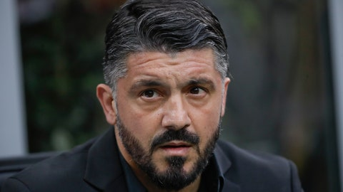 <p>               FILE - In this April 2, 2019 file photo, then AC Milan coach Gennaro Gattuso follows the Serie A soccer match between AC Milan and Udinese, at the San Siro stadium in Milan, Italy. Napoli hired former AC Milan coach Gennaro Gattuso on Wednesday, Dec. 11, 2019, the day after sacking Carlo Ancelotti after Napoli beat Gent 4-0 to  progress to the last 16 of the Champions League and end a nine-match winless run. (AP Photo/Luca Bruno, file)             </p>