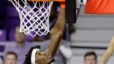 <p>               Kansas State's Xavier Sneed (20) shoots during the second half of an NCAA college basketball game against Florida A&M, Monday, Dec. 2, 2019, in Manhattan, Kan. AP Photo/Charlie Riedel)             </p>