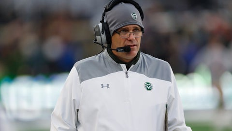 <p>               In this Friday, Nov. 29, 2019, photograph, Colorado State head coach Mike Bobo walks the sidelines in the second half of an NCAA college football game against Boise State in Fort Collins, Colo. Boise State won 31-24. Bobo was relieved of his duties Wednesday, Dec. 4, 2019, after five years on the job. (AP Photo/David Zalubowski)             </p>
