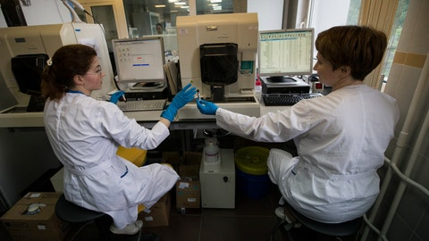 <p>               FILE - In this May 24, 2016 file photo, employees work in Russia's national drug-testing laboratory in Moscow, Russia. Russia is accused of manipulating an archive of doping data from a laboratory in Moscow, which was meant to be a peace offering to the World Anti-Doping Agency to solve earlier disputes. (AP Photo/Alexander Zemlianichenko, File)             </p>