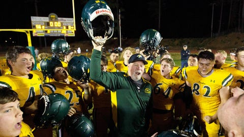 <p>               FILE - In this Nov. 15, 2019 file photo, Paradise High School head football coach Rick Prinz, center, celebrates with his team after defeating Live Oak High School  in their Northern California Division III playoff game in Paradise, Calif.  Paradise, the  Northern California high school football team is preparing to play for a championship one year after most of the players and coaches lost their homes to a wildfire that nearly destroyed their town. Paradise High School will face Sutter Union High School on Saturday, Nov. 30  for the Northern Section Division III championship.(AP Photo/Rich Pedroncelli, File)             </p>