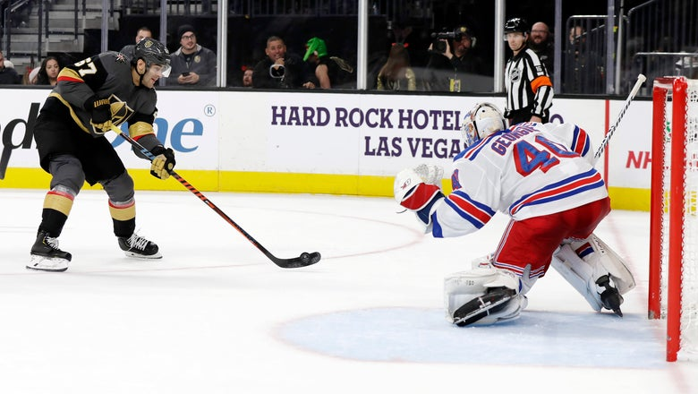 Georgiev stifles Golden Knights in Rangers' 5-0 win