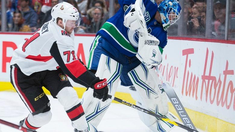 Roussel scores in return, Canucks beat Senators 5-2