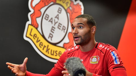 """<p>               Leverkusen's Jonathan Tah talks during an interview with the Associated Press at the BayArena in Leverkusen, Germany, Monday, Dec. 2, 2019. """"What always people think is it's hard to play against Leverkusen and you don't like to play against Leverkusen,"""" defender Jonathan Tah told the AP after the win against German champions Bayern last Saturday. (AP Photo/Martin Meissner)             </p>"""